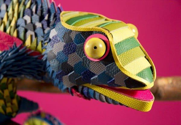 Hermès, dettaglio animali in pelle