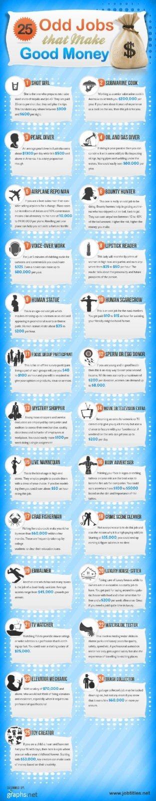 I 25 lavori più pagati al mondo nel 2013 - Infografica