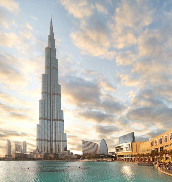 foto dal Burj Khalifa palazzo più alto del mondo