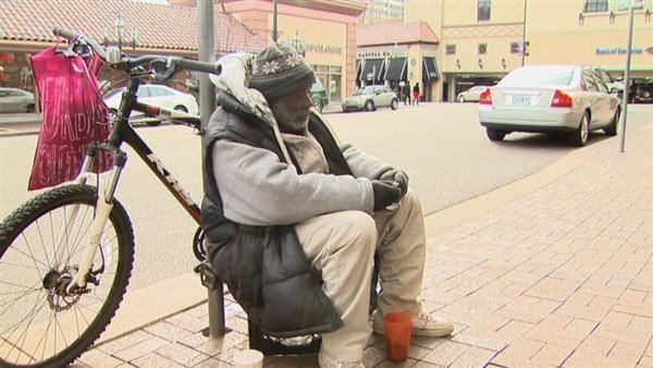 Il senzatetto Billy Ray Harris