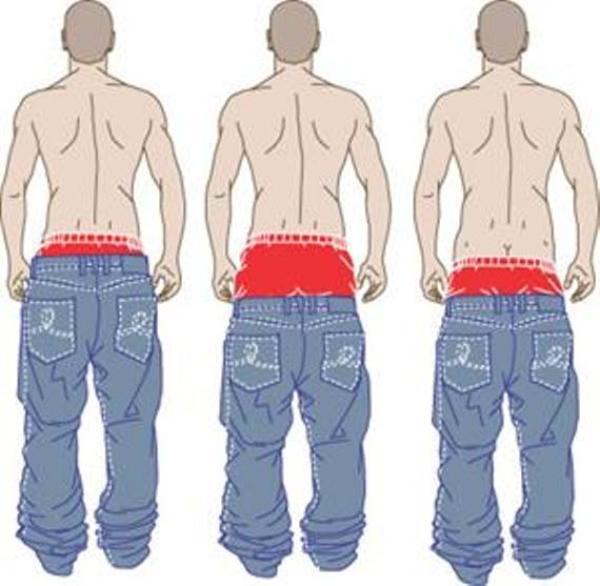 multa per chi porta i pantaloni a vita bassa