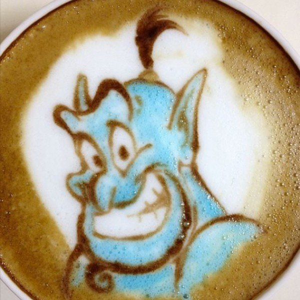 #latteart disegni su cappuccino