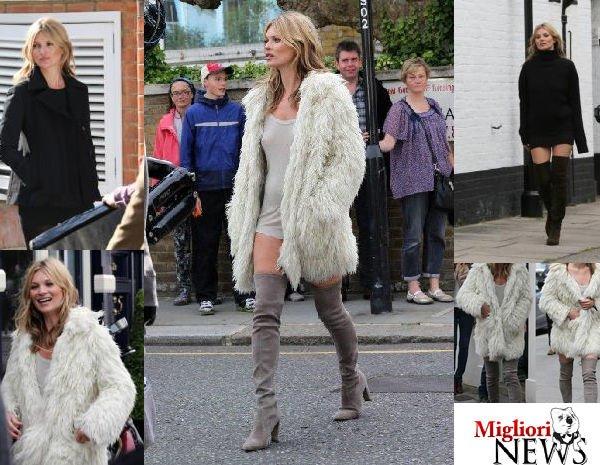 Kate Moss senza slip ferma traffico a Londra