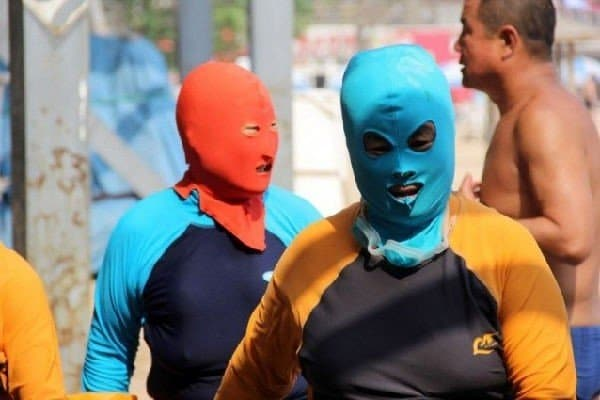 Maschera da spiaggia in Cina